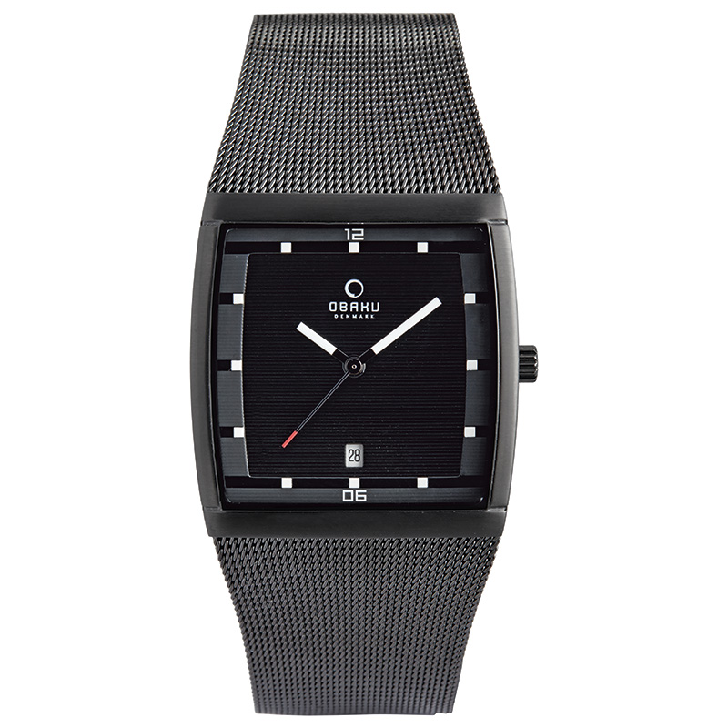 Obaku Men watch LUND - CHARCOAL FRONT view