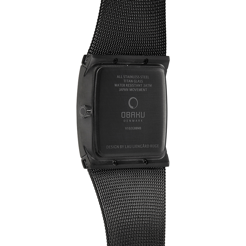 Obaku Men watch LUND - CHARCOAL BACK view