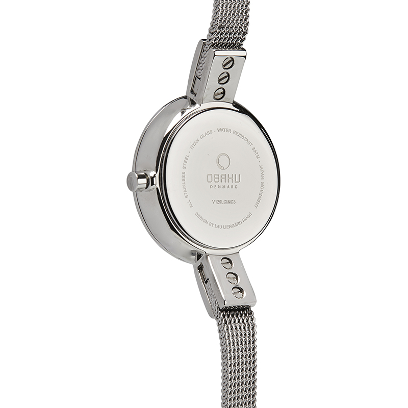Obaku Women watch SIV GLIMT - STEEL BACK view