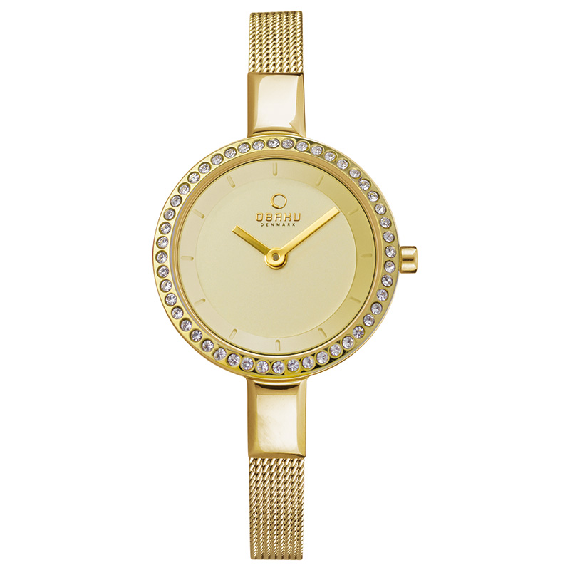 Obaku Women watch SIV GLIMT - GOLD FRONT view
