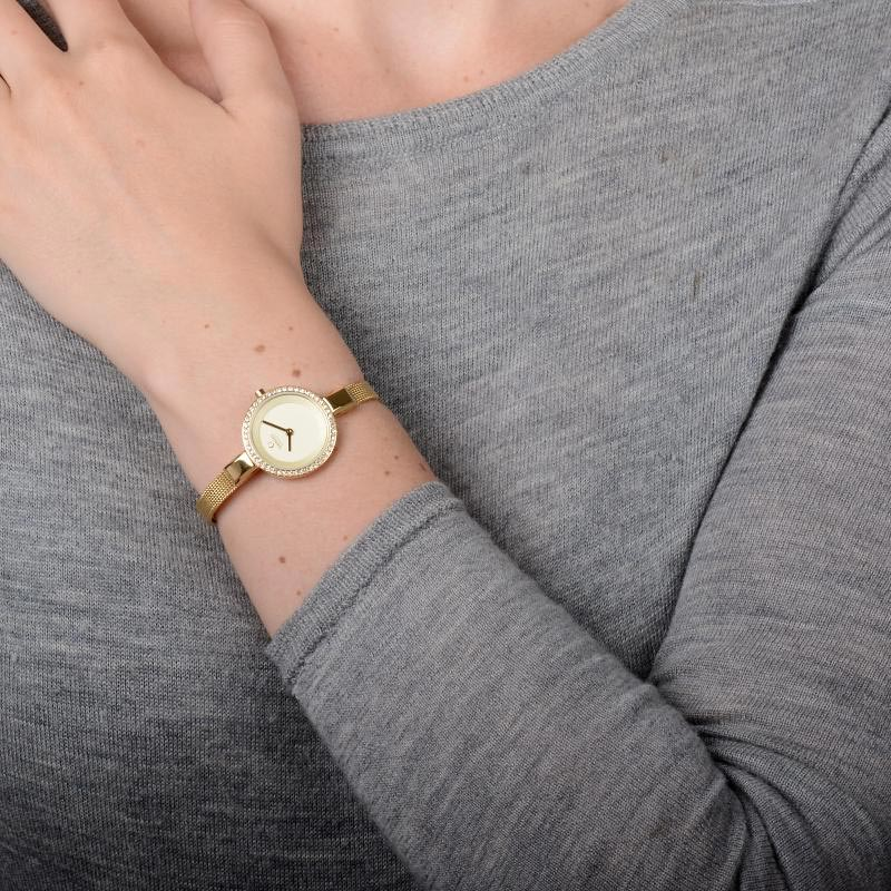 Obaku Women watch SIV GLIMT - GOLD WRIST view