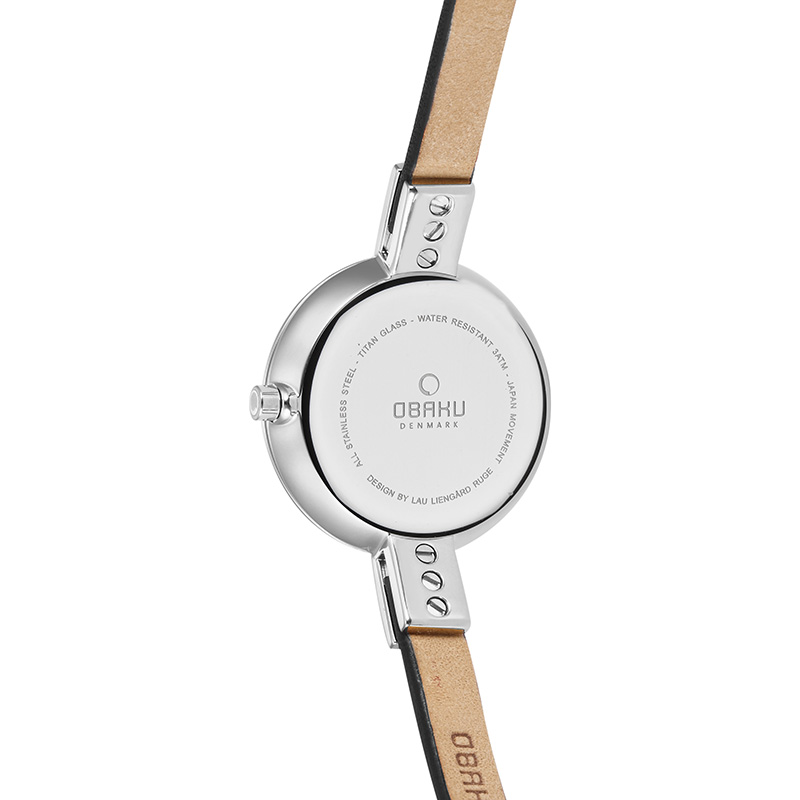 Obaku Women watch SIV - BLACK BACK view
