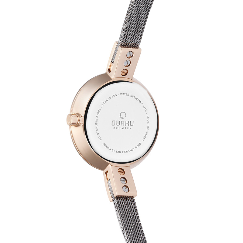 Obaku Women watch SIV - GRANITE BACK view