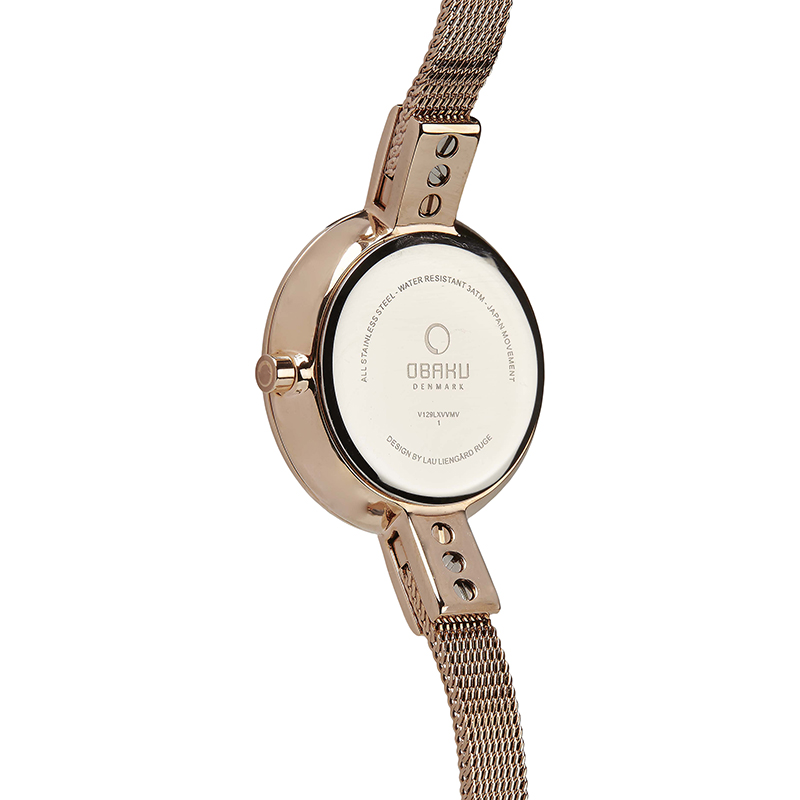 Obaku Women watch SIV - ROSE BACK view