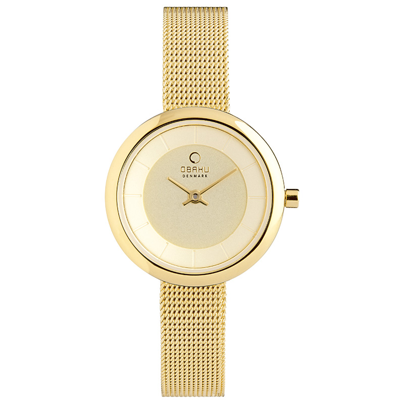 Obaku Women watch STILLE - GOLD FRONT view
