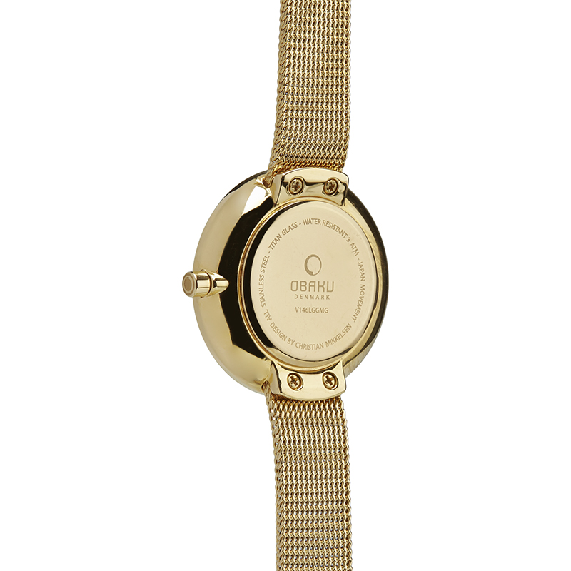 Obaku Women watch STILLE - GOLD BACK view