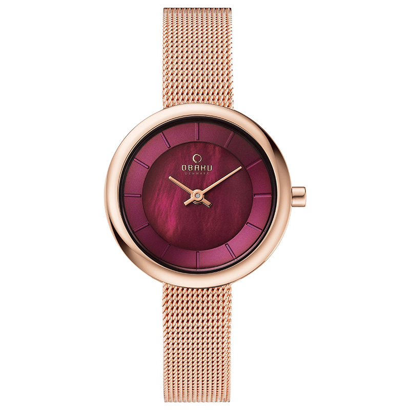 Obaku Women watch STILLE - RUBY FRONT view