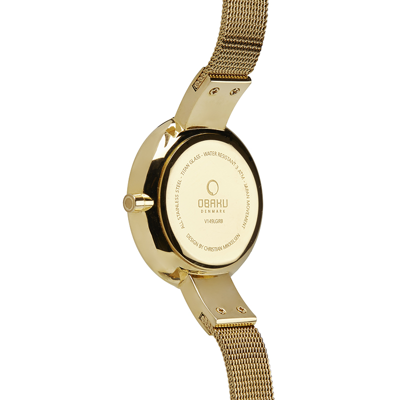 Obaku Women watch SOL - GOLD BACK view
