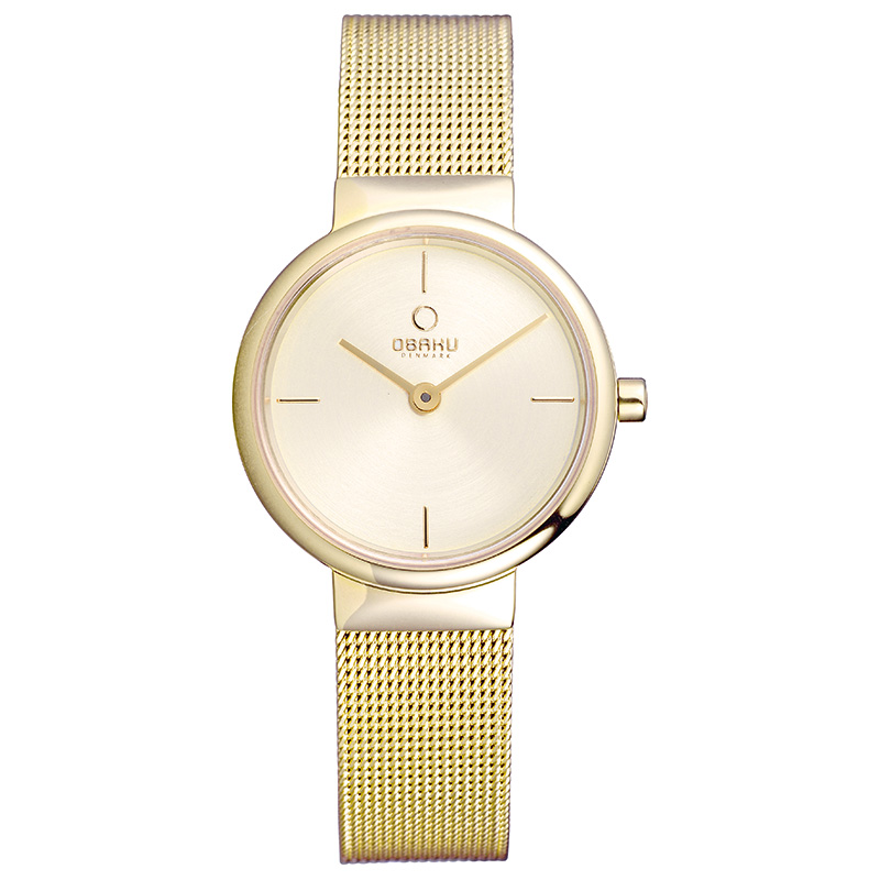 Obaku Women watch KLAR LILLE - GOLD FRONT view