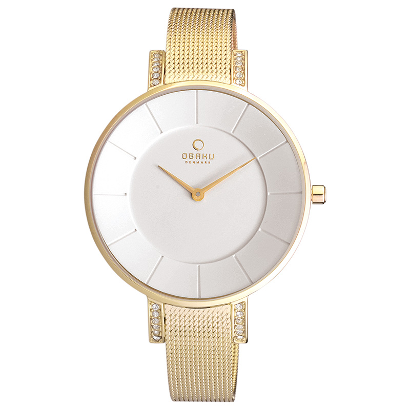 Obaku Women watch LUN - GOLD FRONT view