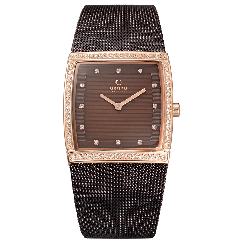 Obaku Women watch LUND GLIMT - WALNUT FRONT view