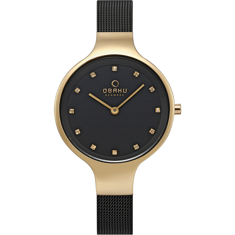 Obaku Women watch SKY - MEDALLION FRONT view