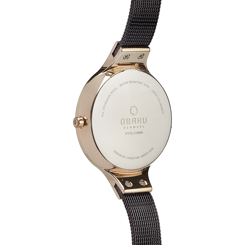 Obaku Women watch SKY - WALNUT BACK view