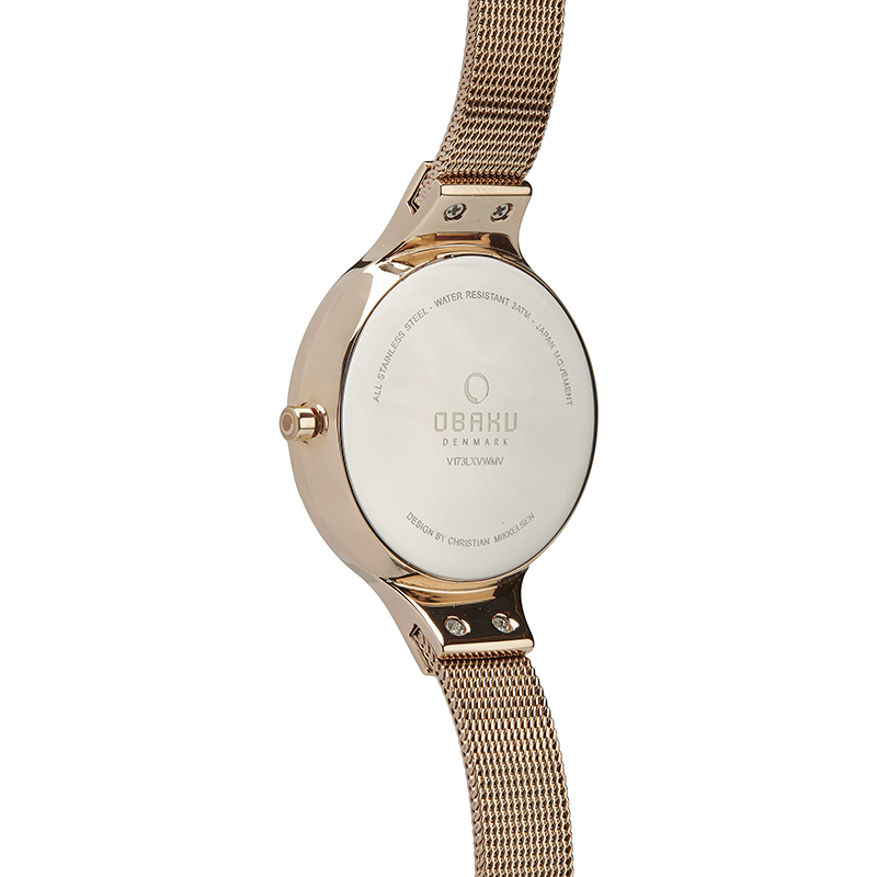 Obaku Women watch SKY - ROSE BACK view