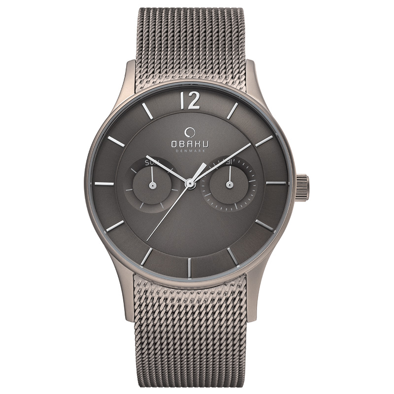Obaku Men watch VILD - TITANIUM FRONT view