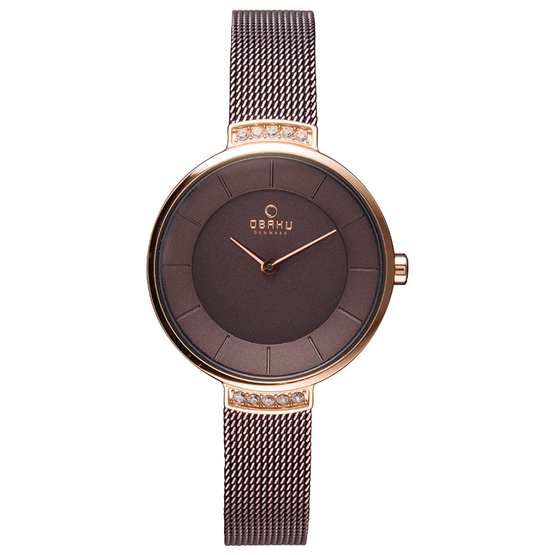 Obaku Women watch VARM - WALNUT FRONT view
