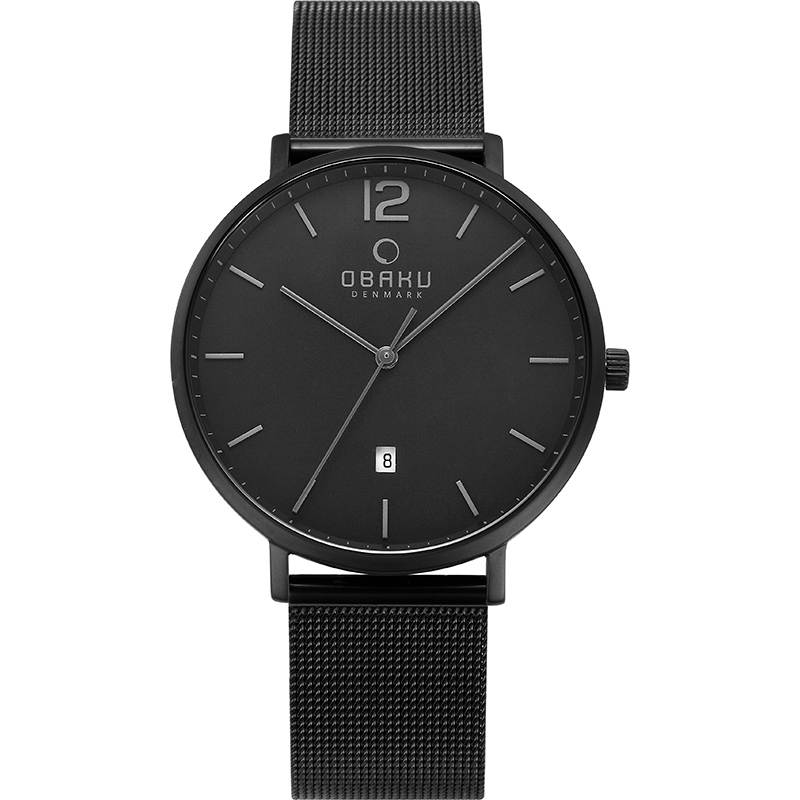 Obaku Men watch TOFT - CHARCOAL FRONT view