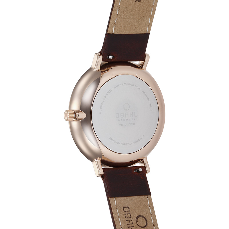 Obaku Men watch TOFT - MAHOGANY BACK view