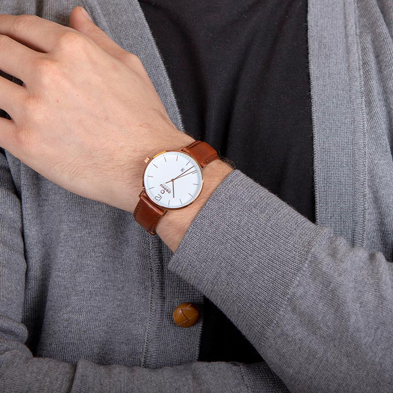 Obaku Men watch TOFT - MAHOGANY WRIST view