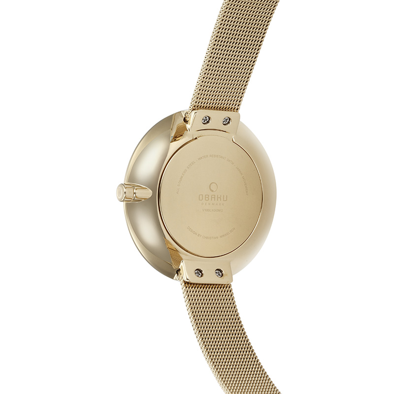 Obaku Women watch SAND - GOLD BACK view