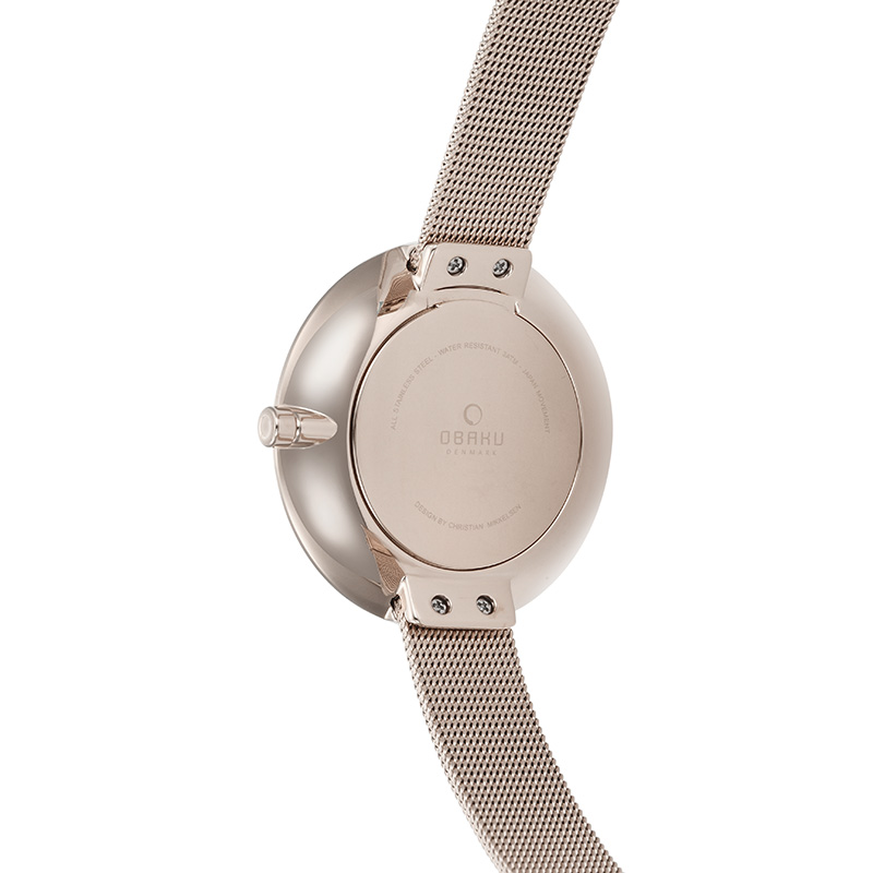Obaku Women watch SAND - ROSE BACK view