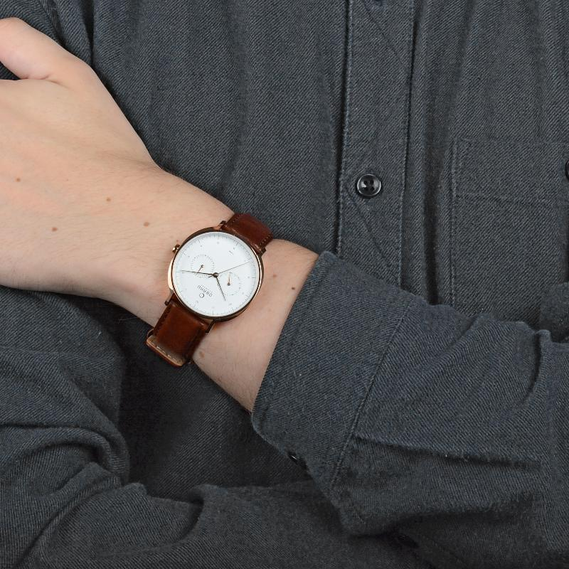 Obaku Men watch AHORN - MAHOGANY SM1 view