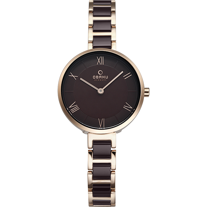 Obaku Women watch VAND - COFFEE FRONT view