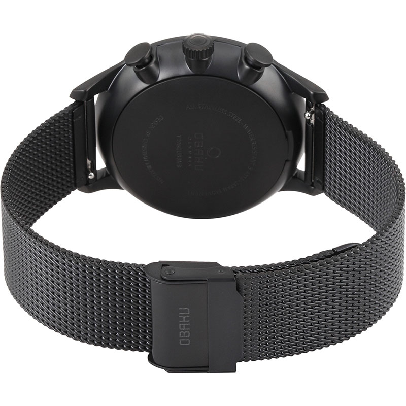 Obaku Men watch GRAN - CHARCOAL CLOSE view