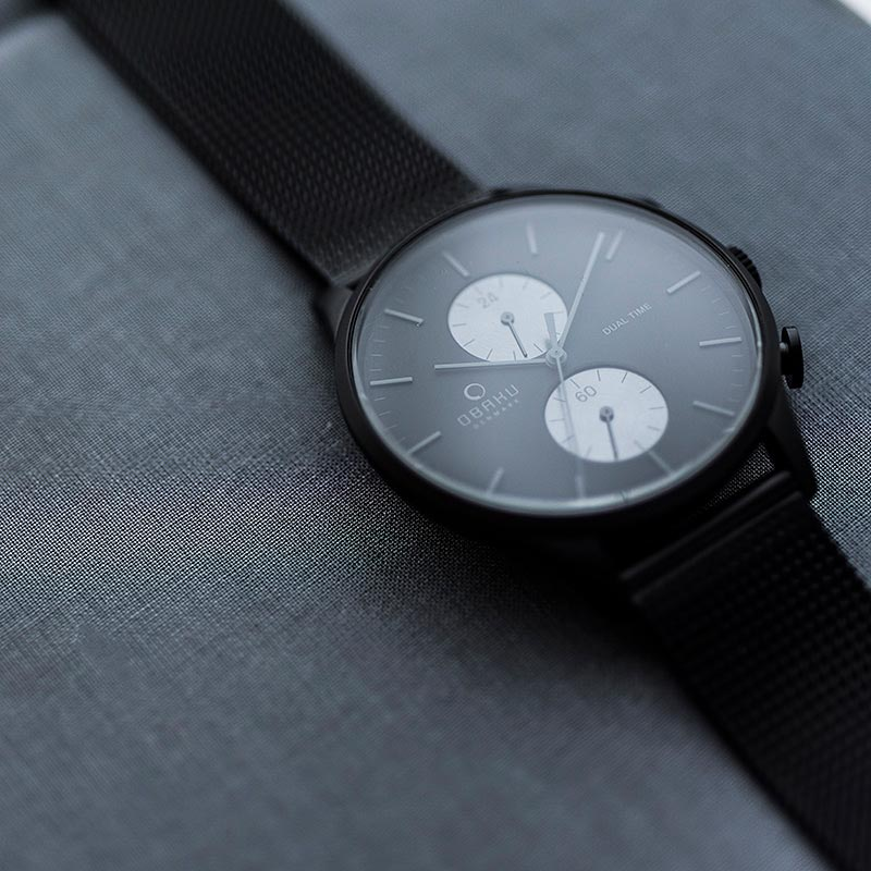 Obaku Men watch GRAN - CHARCOAL SM2 view