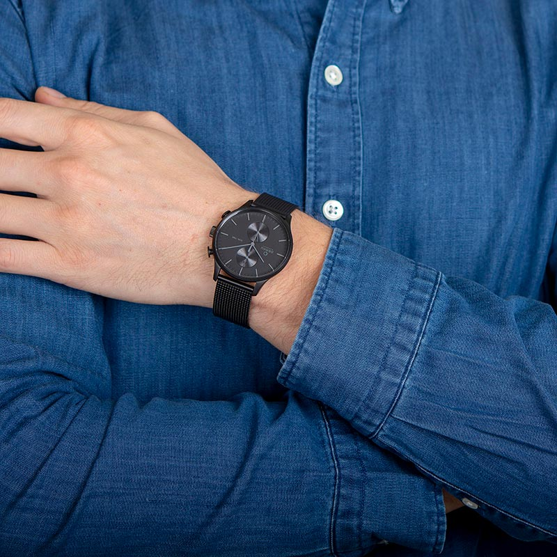 Obaku Men watch GRAN - CHARCOAL WRIST view