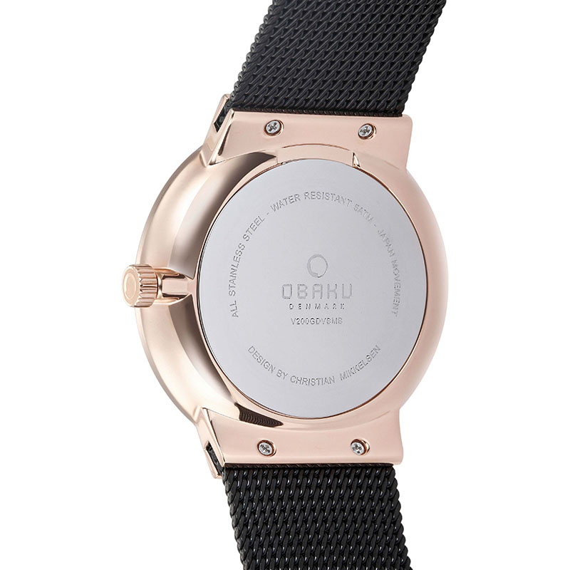 Obaku Men watch HAV - NIGHT BACK view