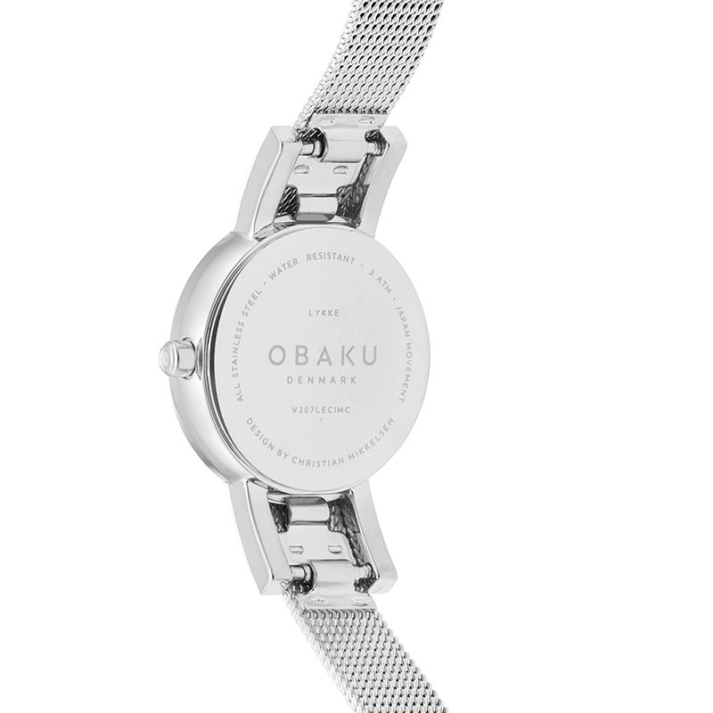 Obaku Women watch LYKKE - STEEL BACK view
