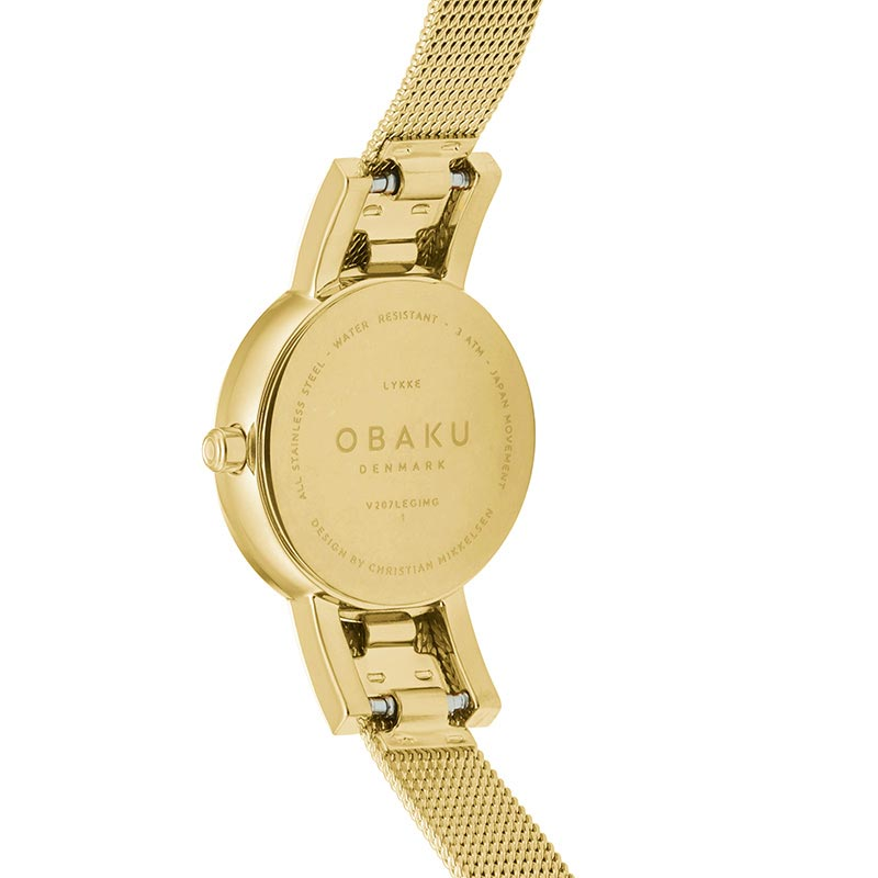 Obaku Women watch LYKKE - GOLD BACK view