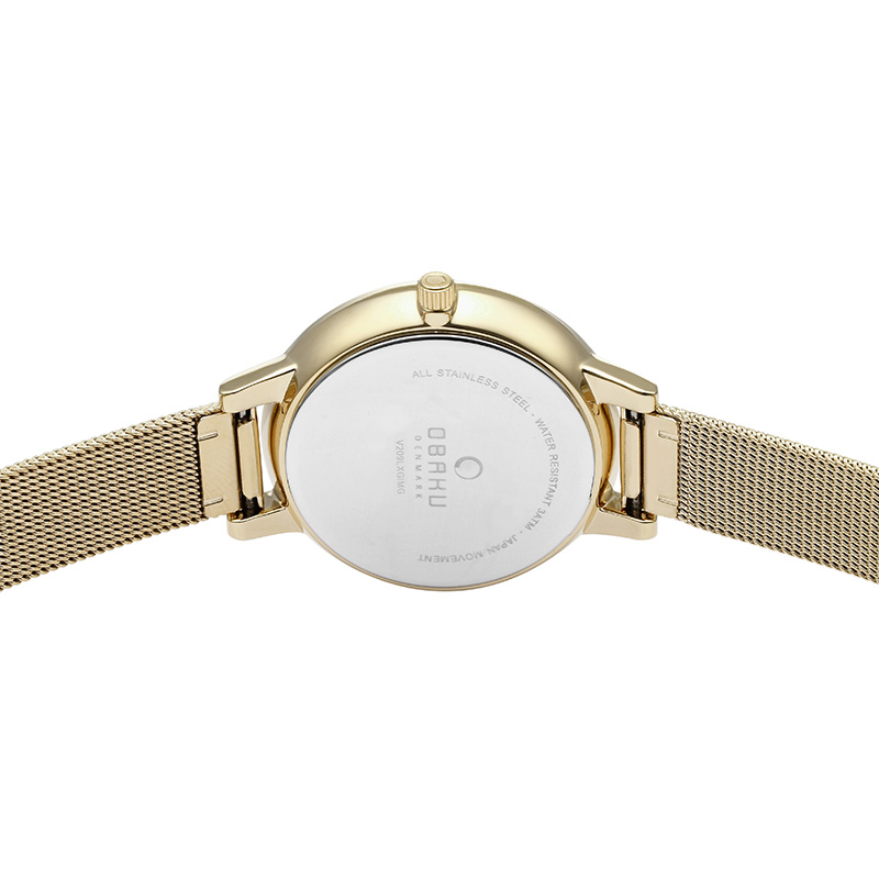 Obaku Women watch LIV - GOLD BACK view