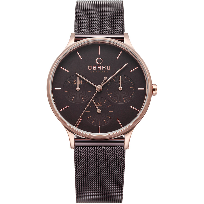 Obaku Women watch LIND - WALNUT FRONT view