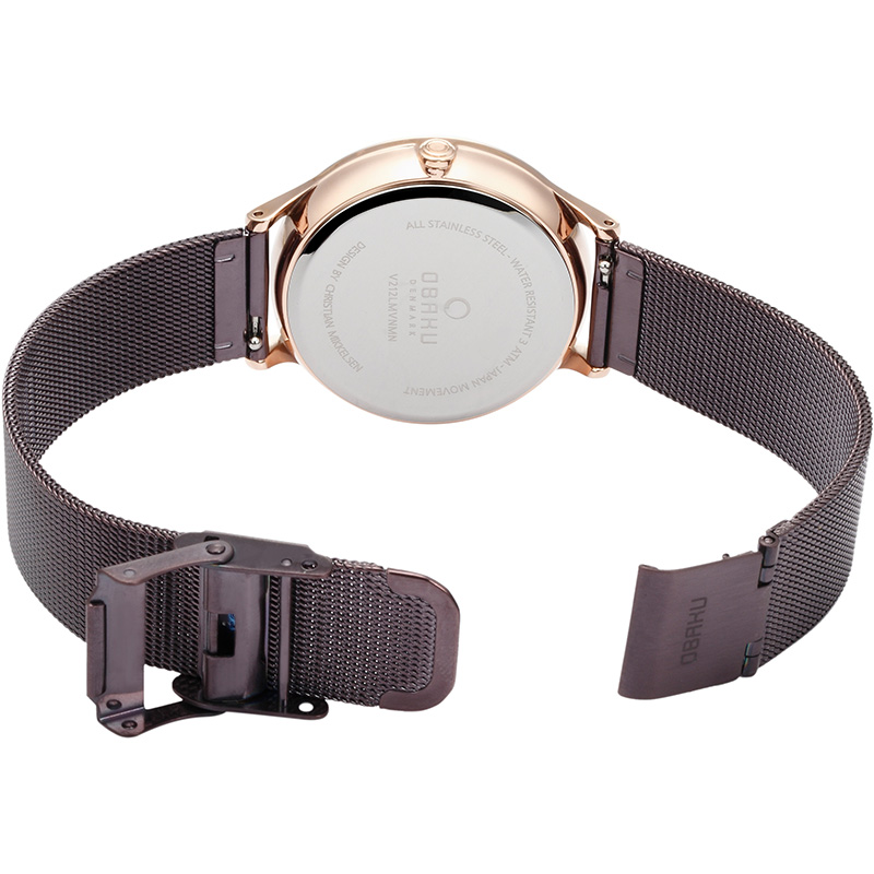 Obaku Women watch LIND - WALNUT OPEN view