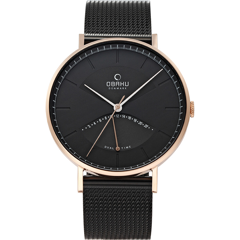 Obaku Men watch ELM - NIGHT FRONT view