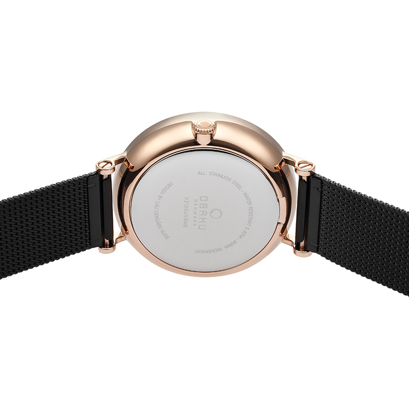 Obaku Men watch ELM - NIGHT BACK view