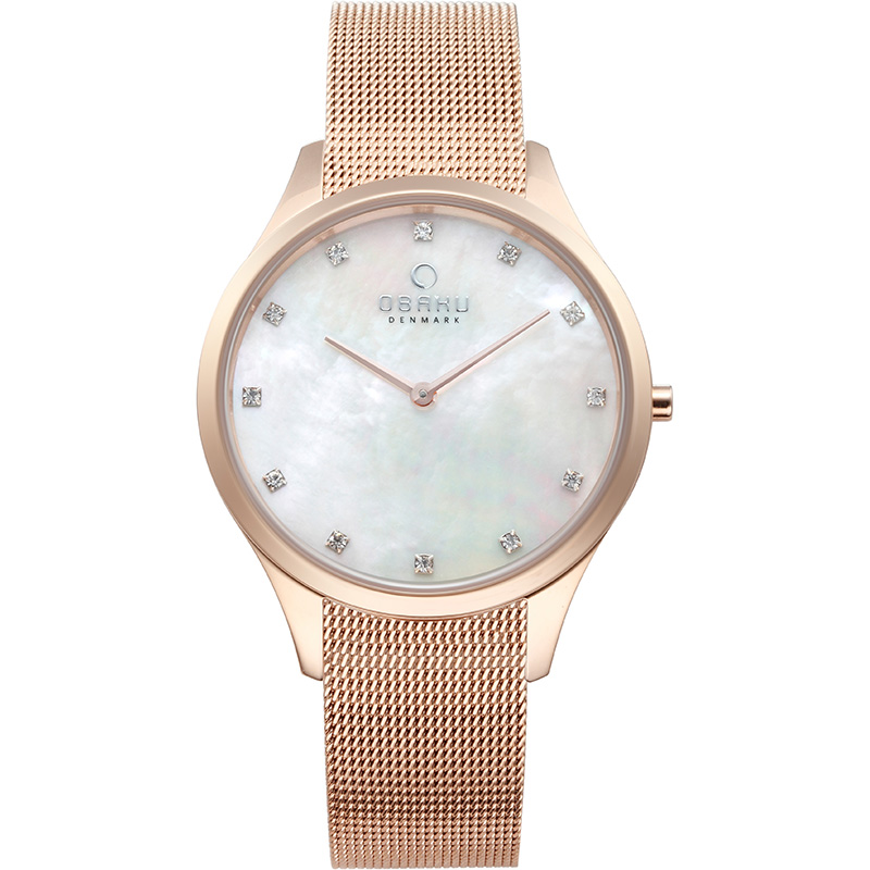 Obaku Women watch FIN - ROSE FRONT view