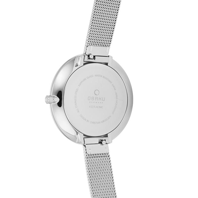 Obaku Women watch DOK - STEEL BACK view