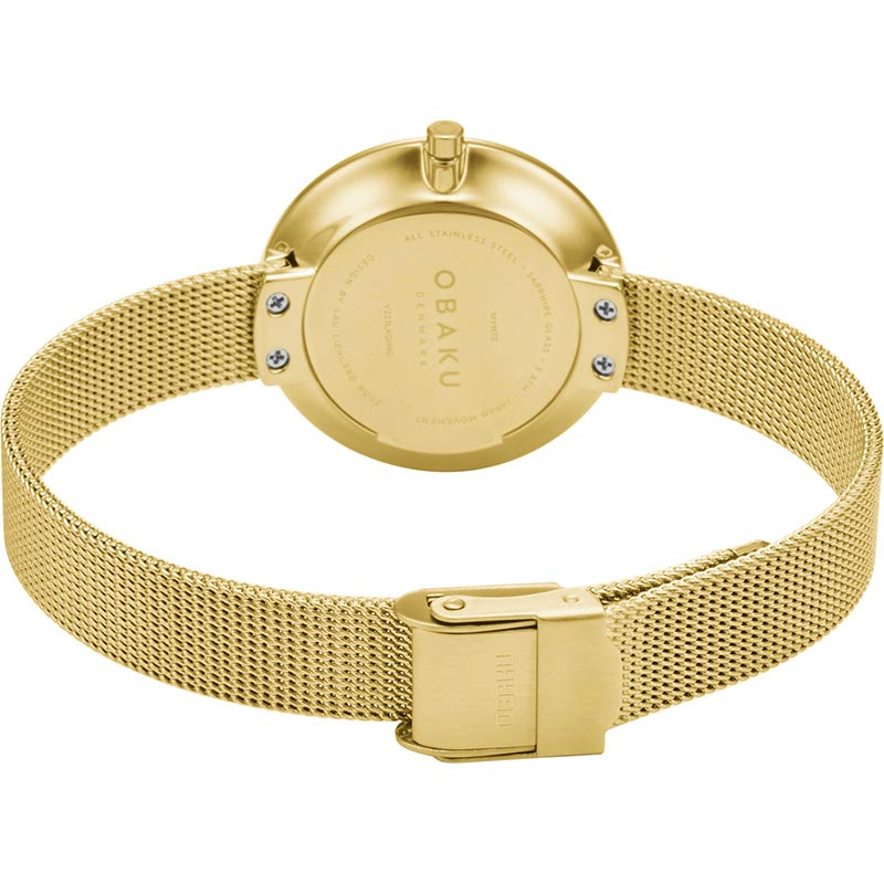 Obaku Women watch NOTAT - GOLD CLOSE view