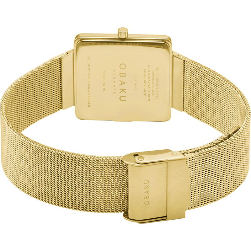 Obaku Women watch KVADRAT - GOLD CLOSE view