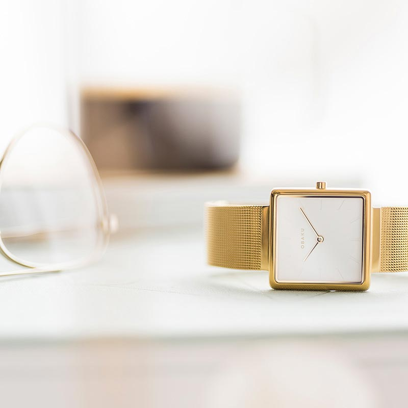 Obaku Women watch KVADRAT - GOLD SM1 view