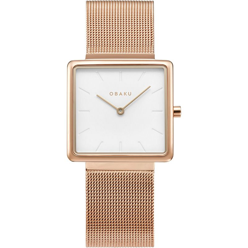 Obaku Women watch KVADRAT - ROSE FRONT view
