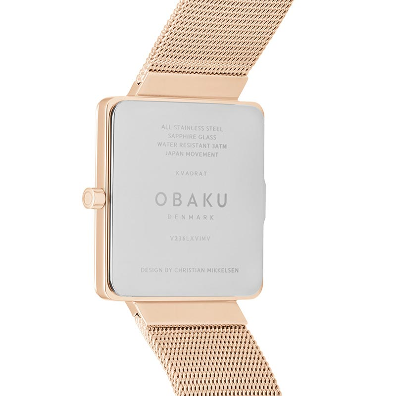 Obaku Women watch KVADRAT - ROSE BACK view