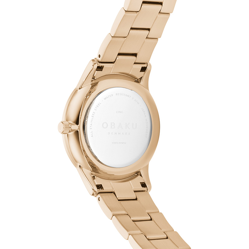 Obaku Women watch LYNG LILLE - ROSE BACK view